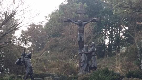 예수님이 십자가에 매달려 있는 장면을 형상화 한 모습.ⓒ조남대