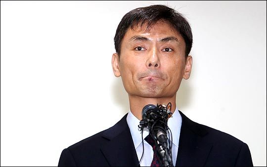 박성진 중소벤처기업부 장관 후보자가 8월 31일 오후 서울 여의도 중소기업중앙회에서 입장을 표명하고 있다. ⓒ데일리안 박항구 기자