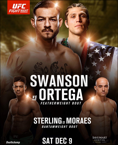 페더급 랭킹 4위의 컵 스완슨 오는 10일 'UFC 파이트 나이트 123' 메인이벤트에서 랭킹 6위의 신흥 강호 브라이언 오르테가를 만난다. ⓒ SPOTV NOW