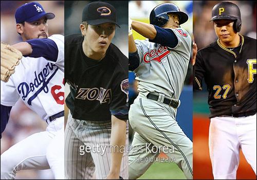박찬호와 김병현, 추신수, 강정호는 강렬한 시즌을 보낸 대표적인 선수다. ⓒ 게티이미지