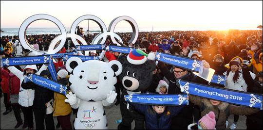 평창 동계올림픽 성화가 1일 포항에서 2018년 첫 봉송을 시작했다.(자료사진) ⓒ 평창 동계올림픽 조직위원회