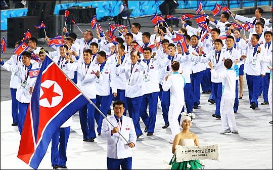 제17회 인천아시안게임 개막식에 입장하고 있는 북한 선수단.(자료사진) ⓒ데일리안DB
