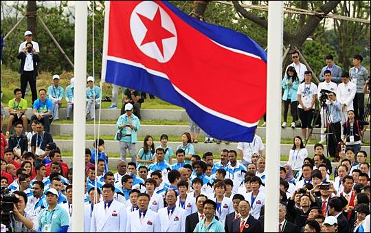지난 2014 인천 아시안게임에 참가한 북한 선수단. ⓒ 데일리안DB