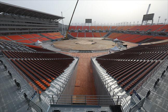 평창올림픽 개막식이 열리는 평창올림픽스타디움. ⓒ 데일리안 홍금표 기자