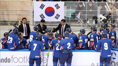 카자흐스탄에 역전패를 당한 한국 남자 아이스하키 대표팀. ⓒ 연합뉴스