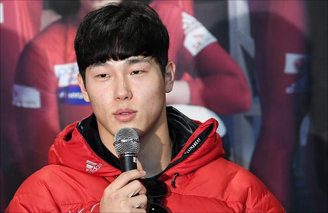 스켈레톤의 윤성빈. ⓒ 2018평창사진공동취재단