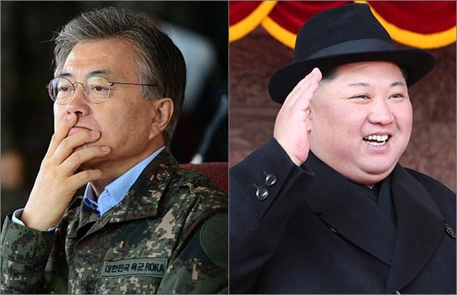 (왼쪽부터) 문재인 대통령, 김정은 북한 노동당 위원장. ⓒ데일리안