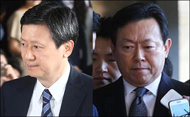 신동주 전 롯데홀딩스 부회장(왼쪽)·신동빈 롯데그룹 회장.ⓒ데일리안