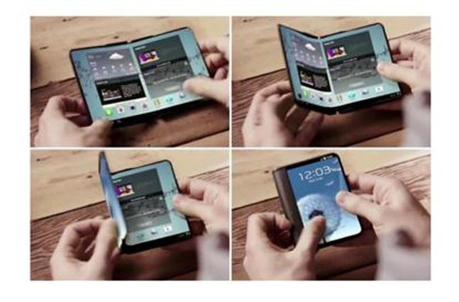폴더식 스마트폰 콘셉트 이미지. ⓒ 유튜브 캡쳐