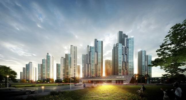 강남 3구를 비롯한 주요지역에서 재건축으로 들어서는 대형사의 브랜드 아파트가 주목 받고 있다. '서초우성1차 재건축' 투시도.ⓒ삼성물산