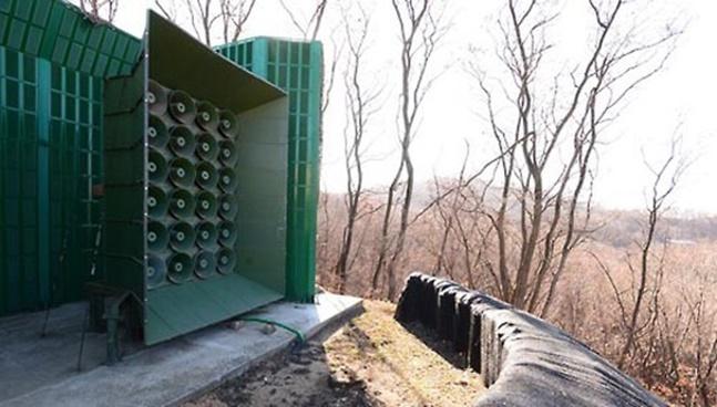 대북 심리전의 핵심 시설인 대북확성기 방송의 내용이 완화된 것으로 전해졌다.(자료사진) ⓒ연합뉴스