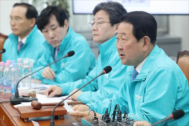 박주선 바른미래당 공동대표가 6일 오전 국회에서 열린 바른미래당 최고위원회의에서 발언을 하고 있다.(자료사진) ⓒ데일리안 홍금표 기자