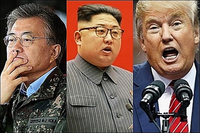 한반도 정세 키를 쥔 문재인 대통령과 김정은 북한 노동당 위원장, 미 트럼프 대통령 ⓒ데일리안DB