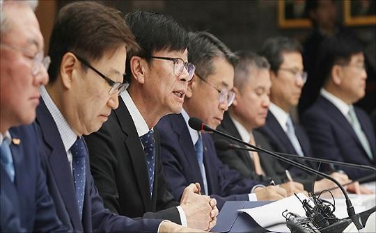 김상조 공정거래위원장이 10일 오전 서울 중구 대한상공회의소에서 열린