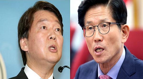 바른미래당 안철수 서울시장 후보(왼쪽), 자유한국당 김문수 서울시장 후보 ⓒ데일리안