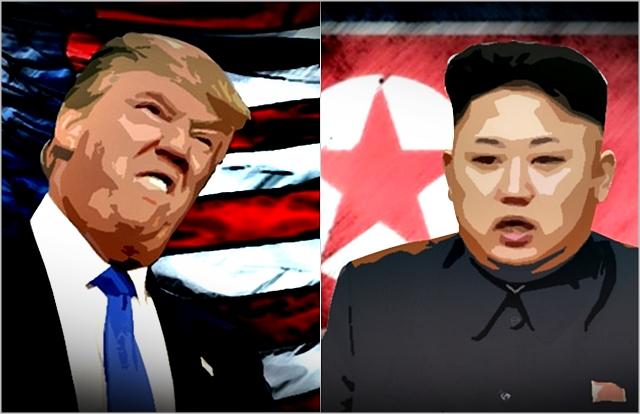 김정은(오른쪽) 북한 국무위원장과 도널드 트럼프 미국 대통령 ⓒ데일리안