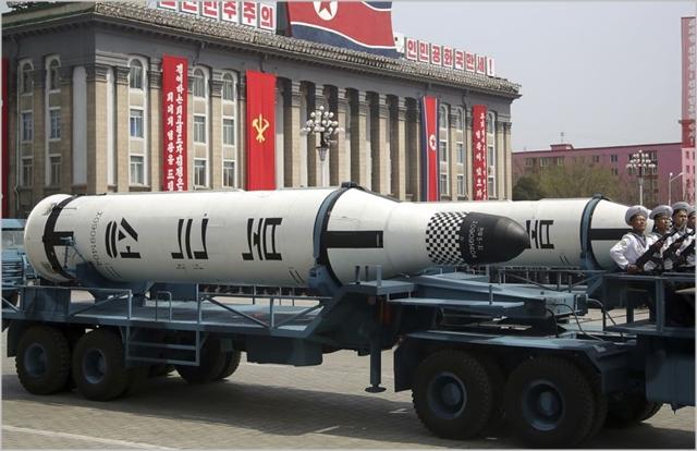북한의 잠수함발사탄도미사일(SLBM) '북극성' ⓒ조선중앙통신