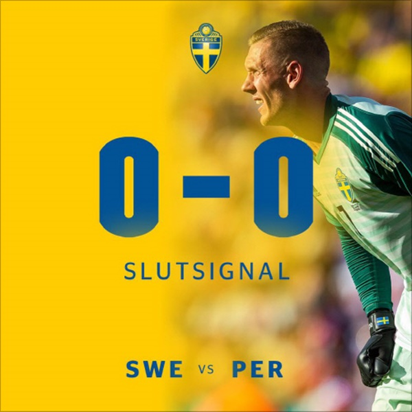 스웨덴이 페루와의 마지막 평가전에서도 무득점 무승부에 그쳤다. ⓒ 스웨덴 축구협회 SNS