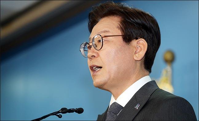 6.13 지방선거에서 경기도지사 후보로 나선 이재명 더불어민주당 후보 ⓒ데일리안 박항구 기자