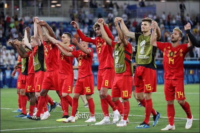 황금세대를 앞세운 벨기에가 우승후보 브라질을 제압했다. ⓒ 게티이미지