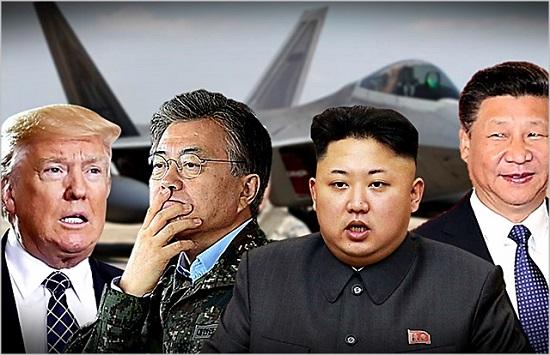 남북미중 정상들. 왼쪽부터 트럼프 미국 대통령, 문재인 대통령, 김정은 북한 국무위원장, 시진핑 중국국가 주석 ⓒ데일리안