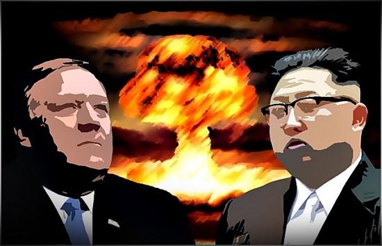 마이크 폼페이오 미국 국무장관(왼쪽)과 김정은 북한 국무위원장 ⓒ데일리안