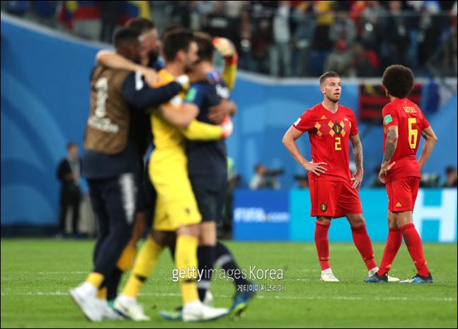 벨기에의 우승 도전은 다음으로 미뤄지게 됐다. ⓒ 게티이미지