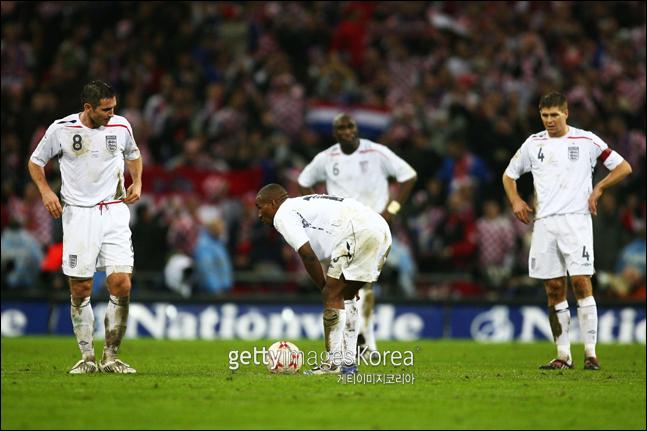 크로아티아와의 최종전에서 패해 예선 탈락한 잉글랜드. ⓒ 게티이미지