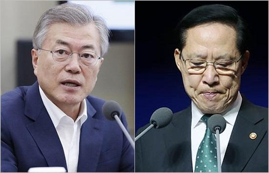 문재인 대통령(왼쪽), 송영무 국방부장관 ⓒ청와대, 데일리안 박항구 기자