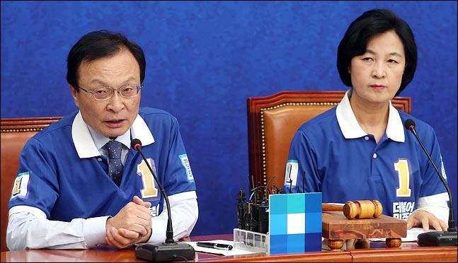 이해찬 더불어민주당 의원과 추미애 당 대표 (자료사진) ⓒ데일리안 박항구 기자