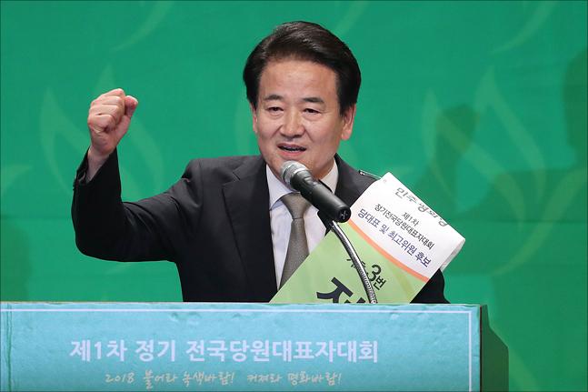 지난 5일 민주평화당 당대표로 선출된 정동영 의원. 1996년 국회의원에 당선돼 22년째 정치를 하고 있다. ⓒ데일리안 홍금표 기자