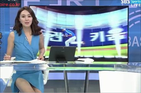 김민아 아나운서. SBS SPORTS