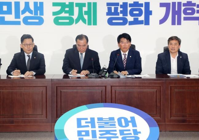 더불어민주당 농해수위 간사인 박완주 의원이 8일 국회 의원회관에서 민주당 농해수위 위원-농식품부 당정협의에서 발언하고 있다.ⓒ연합뉴스