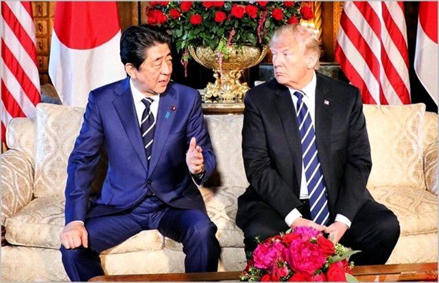 아베 신조 일본 총리(왼쪽)와 도널드 트럼프 미국 대통령 ⓒ도널드 트럼프 트위터