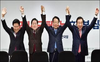 한국당 원내대표 후보들, 일제히 '초선' 표심잡기