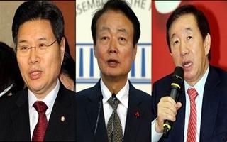 한국당 원내대표 후보압축…홍문종 vs 한선교 vs 김성태 '3파전'