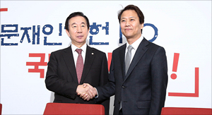김성태 원내대표 방문한 임종석 대통령 비서실장