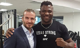 UFC 220 은가누, 축구스타 베컴과 무슨 인연?