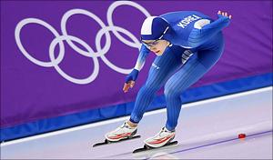 [평창2018] 빙속 여자 1000m 질주하는 김현영