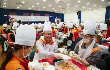 김준 SK이노베이션 사장, 신입사원과 자원봉사활동