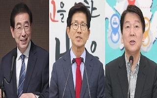 독주 박원순 60.1%…김문수 18.5%·안철수 12.3% 오차범위 접전