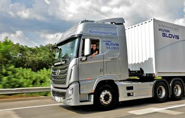 현대차, 대형트럭 자율주행 국내 최초 성공