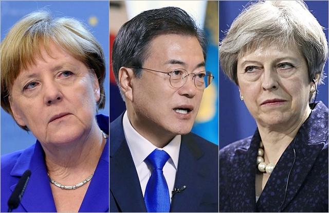 文대통령, 대북제재 완화 외교 2차전…독일·영국이라고 다를까