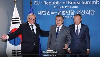 첫 '비핵화 노크'…아직은 유럽의 門 열지 못한 文